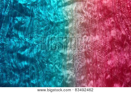 Texture Of Crumpled Fabric With Small Folds In Two Contrasting Colors