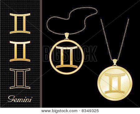 Gemini Medallion & Pendant