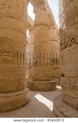 Columns in Precinct of Amun-Re  (Karna, Luxor, Egypt)