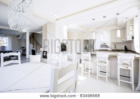 Interior Of Modern Kitchen In Apartment