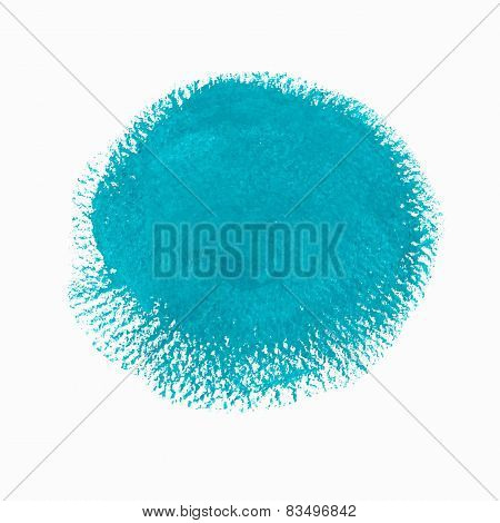 Turquoise acrylic paint vector circle