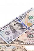 foto of twenty dollar bill  - Close up of different dollar bills - JPG