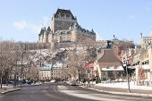 stock photo of chateau  - Chateau Frontenac in winter - JPG