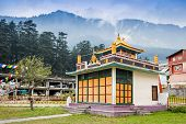 stock photo of himachal pradesh  - Tibetan monastery in Manali Himachal Pradesh India - JPG