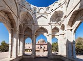 picture of masjid  - Ashrafi Mahal and Jama Masjid Mosque in Mandu Madhya Pradesh India - JPG