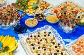 picture of catering  - Catering food at a party - JPG