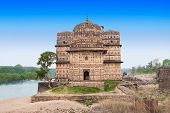 foto of raja  - Chhatris or Cenotaphs are dome shaped structure built in 17th century for a long memory about raja of Orchha city - JPG