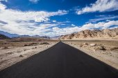 picture of manali-leh road  - Asphalt road in the mountains Ladakh India - JPG