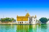 picture of hindu temple  - Durgiana Temple is a premier Hindu temple of Punjab in Amritsar - JPG