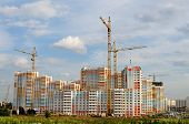 Постер, плакат: High rise Building Under Construction