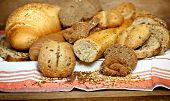 pic of whole-grain  - Various pastries and breads closeup on table made with whole grains - JPG