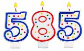 pic of 5s  - candles number five hundred eighty - JPG