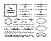 pic of scroll design  - Set of calligraphic design elements for page decoration - JPG