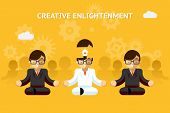 Постер, плакат: Creative enlightenment Business guru creative idea concept