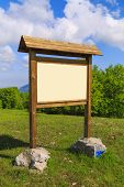 pic of sign board  - Wooden sign board ready to put information in the mountain - JPG