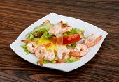 picture of aloe-vera  - Asian kitchen - Shrimps with aloe vera salad