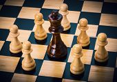 pic of chessboard  - close up photo of chess on the chessboard - JPG