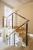 image of staircases  - The marble staircase in the apartment - JPG
