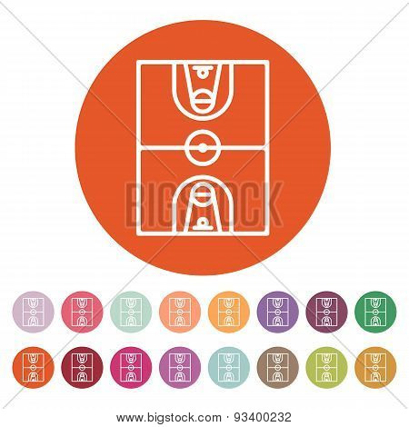 The Basketball Icon. Basketball Symbol. Flat