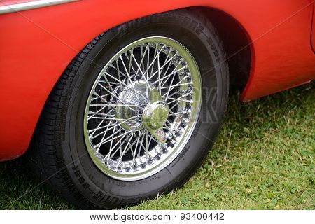 Wheel of car