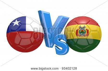 Copa America football competition, national teams Chile vs Bolivia