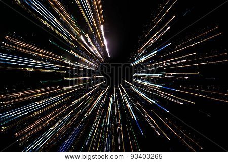 long exposure, abstract multicolored motion lines background