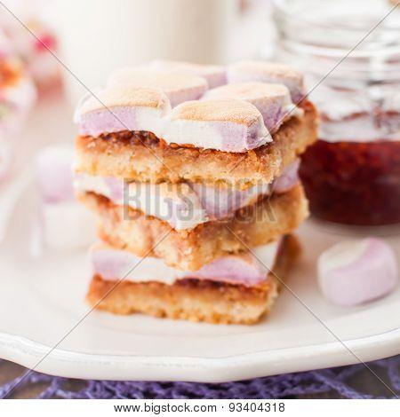 Marshmallow Jam Slice