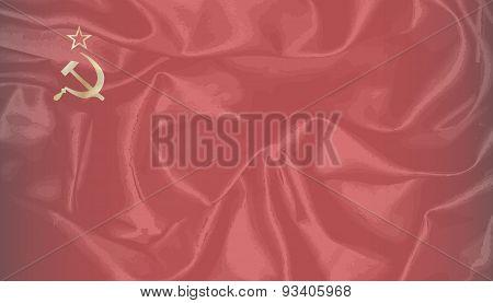 Ussr Silk Flag