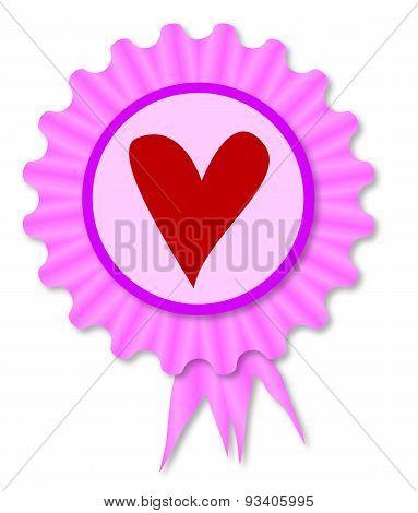 Love Heart Rosette