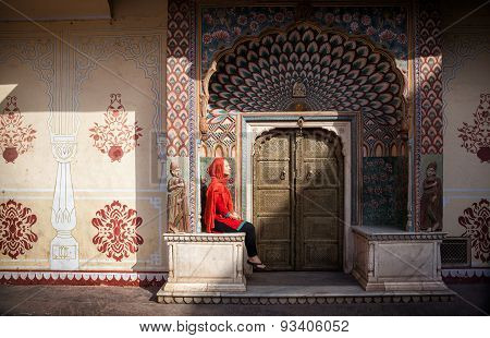 Woman In Jaipur City Palace