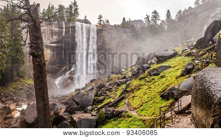 Mist Trail In Yosemite National Park