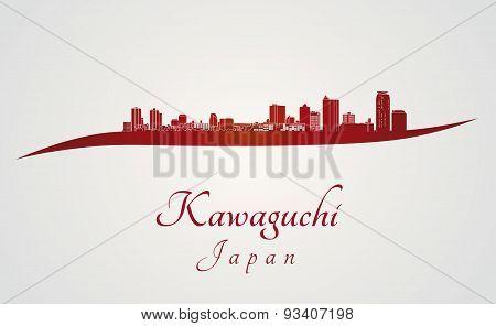 Kawaguchi Skyline In Red