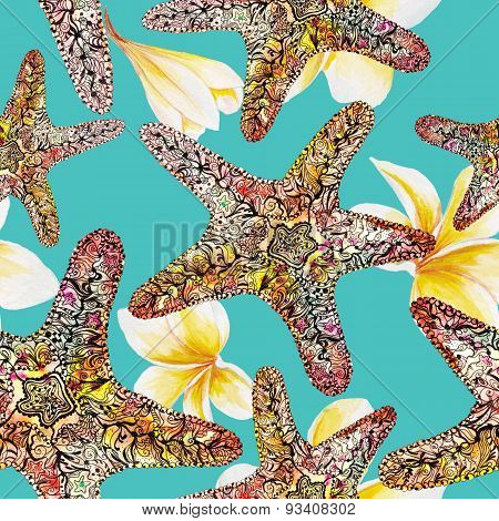 Watercolor Travel Sea Pattern
