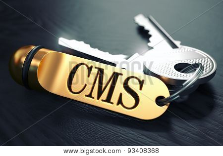 CMS written on Golden Keyring.