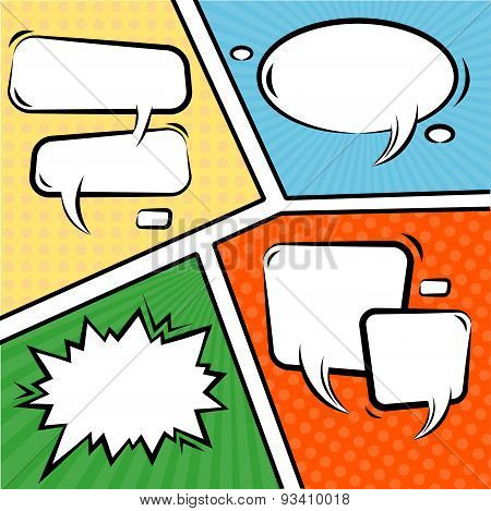 Vector Comics Speech Bubbles Set