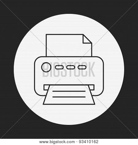 Printer Line Icon