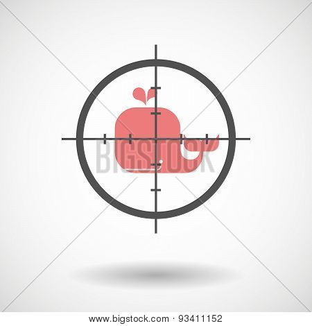 Crosshair Icon Targeting A Whale