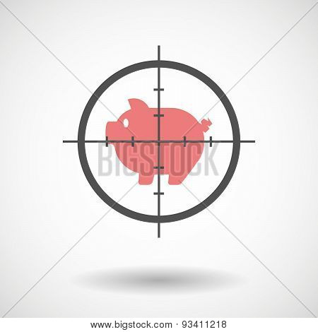 Crosshair Icon Targeting A Pig