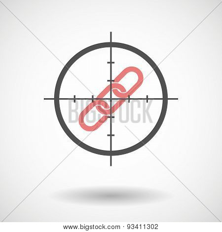 Crosshair Icon Targeting A Chain