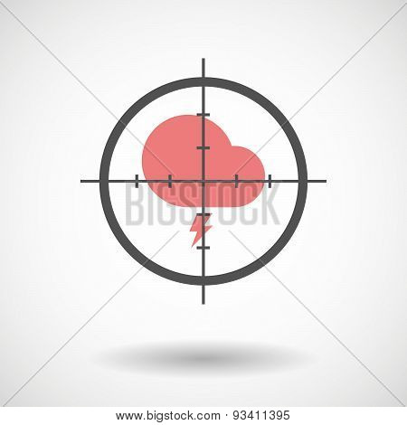 Crosshair Icon Targeting An Umbrella