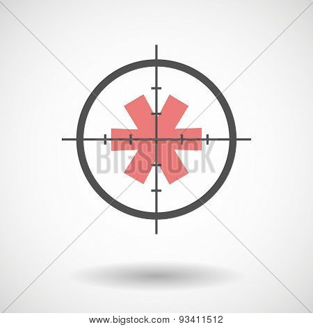 Crosshair Icon Targeting An Asterisk