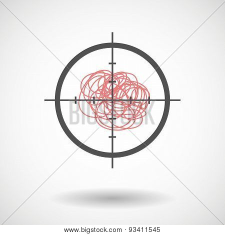 Crosshair Icon Targeting A Doodle