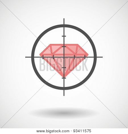 Crosshair Icon Targeting A Diamod