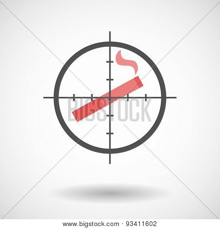 Crosshair Icon Targeting A Cigarette