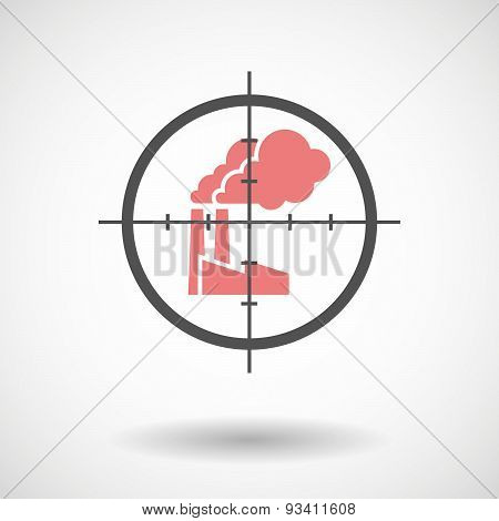 Crosshair Icon Targeting A Factory