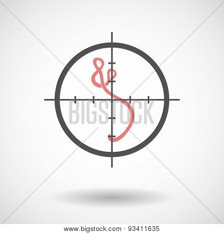 Crosshair Icon Targeting An Ebola Sign