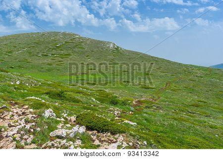 Chatyr-Dah mountainous massif in Crimea