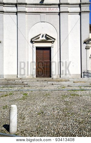 Italy  Sumirago    Varese  The Old  Entrance  Mosaic Sunny Day