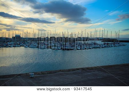 Evening bay.