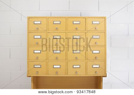 Filing Cabinet Wood- Front View